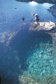 Crystal clear rock pools
