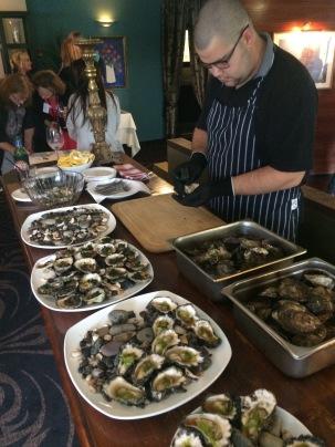 Sample fresh seafood