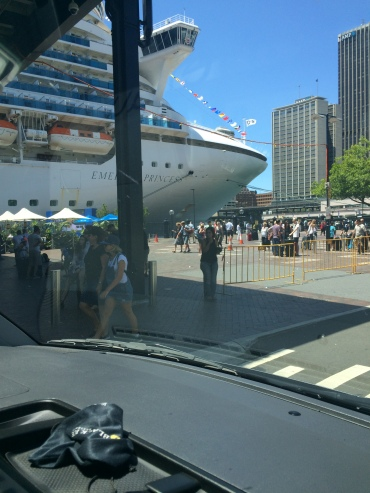 Meeting guests disembarking from a cruise